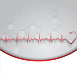 Illustration abstraite de cardiogramme de battements de coeur Photos libres de droits