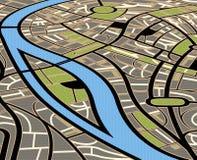 Illustration abstraite de carte de ville illustration de vecteur