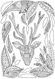 Illustration abstraite de cerfs communs Photographie stock libre de droits