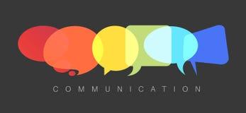 Illustration abstraite de concept de communication de vecteur Image stock