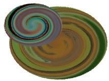 Illustration abstraite de deux planètes, gamme de couleur foncée illustration stock
