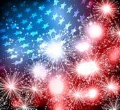 Illustration abstraite de drapeau américain Images libres de droits