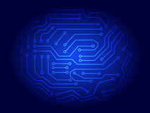 Fond de carte électronique de bleu Photos libres de droits