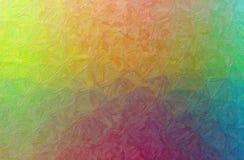 Illustration abstraite de fond jaune, vert, pourpre et bleu d'Impasto d'impressionniste photo stock