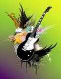 Illustration abstraite de guitare illustration libre de droits
