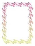 Illustration abstraite de l'ornamental frame Images libres de droits