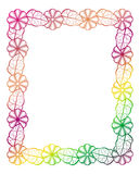 Illustration abstraite de l'ornamental frame Photographie stock