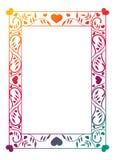 Illustration abstraite de l'ornamental frame Photo libre de droits