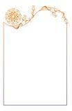 Illustration abstraite de l'ornamental frame Image stock
