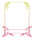Illustration abstraite de l'ornamental frame Images stock