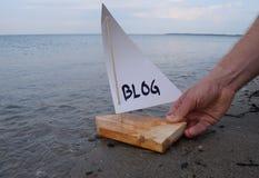 Illustration abstraite de lancer un nouveau blog Photographie stock libre de droits