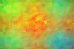 Illustration abstraite de mosaïque lumineuse bleue et rouge orange verte par le fond de briques en verre, digitalement produite illustration libre de droits