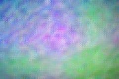 Illustration abstraite de mosaïque lumineuse pourpre de vert bleu par le fond de briques en verre, digitalement produite illustration libre de droits