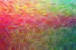 Illustration abstraite de mosaïque lumineuse rouge, verte et jaune par le fond de briques en verre illustration stock