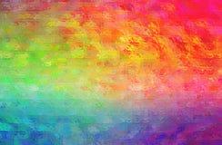 Illustration abstraite de mosaïque lumineuse rouge, verte, pourpre et bleue par le fond de briques en verre illustration stock