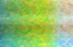 Illustration abstraite de mosaïque lumineuse verte, bleue et crémeuse par le fond de briques en verre illustration stock