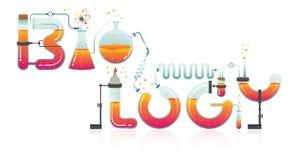 Illustration abstraite de mot de BIOLOGIE