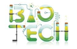 Illustration abstraite de mot BIOTECHNOLOGIQUE