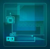 Illustration abstraite de technologie. Images libres de droits
