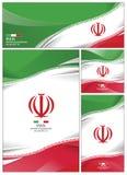 Illustration abstraite de vecteur de brochure de fond de drapeau de l'Iran illustration libre de droits