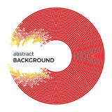 Illustration abstraite de vecteur dépeignant les cercles colorés sur un fond blanc Images libres de droits