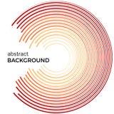 Illustration abstraite de vecteur dépeignant les cercles colorés sur un fond blanc Photo libre de droits