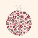 Illustration abstraite de vecteur de babiole de Noël Photographie stock libre de droits