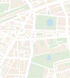 Illustration abstraite de vecteur de carte de ville avec des rues Photographie stock