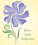 Illustration abstraite de vecteur de fleur Photo stock