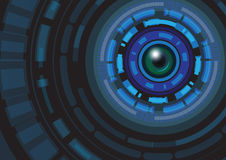 Illustration abstraite de vecteur de fond de concept de technologie illustration libre de droits