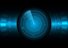 Illustration abstraite de vecteur de radar illustration libre de droits