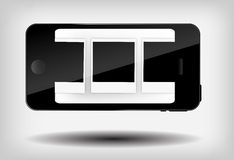 Illustration abstraite de vecteur de téléphone portable Image stock