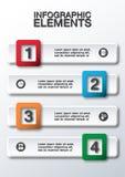 Illustration abstraite des affaires 3D infographic Images stock