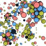 Illustration abstraite des boules colorées d'isolement sur le fond blanc rendu 3d Photographie stock libre de droits