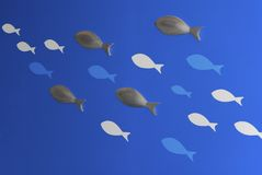 Illustration abstraite des poissons Photos libres de droits