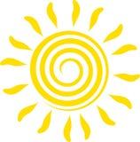 Illustration abstraite du soleil Photographie stock