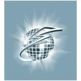 Illustration abstraite : esprit de boule de miroir de club de disco (boule de scintillement) Image stock