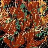 Illustration abstraite foncée de vecteur de graffiti de texture grunge Image libre de droits