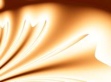 Illustration abstraite moderne orange lumineuse de fond de fractale avec les rubans stylisés ou draper Art élégant doucement doux illustration stock