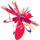 Illustration abstraite rouge pourprée illustration de vecteur