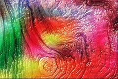 Illustration abstraite texturisée de fond d'arbre brillant coloré photo stock
