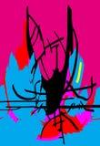 illustration Abstrakt begrepp målning bild diagram Arkivbild