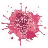 Illustration abstrakt teckning - druvor Royaltyfri Fotografi