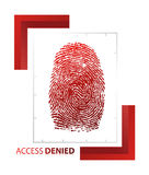 Illustration of access denied sign. With thumb on isolated background Royalty Free Stock Photo