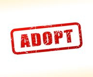 Adopt text stamp. Illustration of adopt text stamp Royalty Free Stock Images