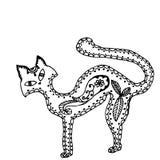 Illustration adulte de vecteur d'animal familier de Cat Coloring Image stock