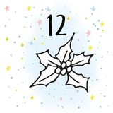 Illustration of the Advent Calendar for Christmas Waiting. stock illustration