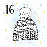 Illustration of the Advent Calendar for Christmas Waiting. Stock Images
