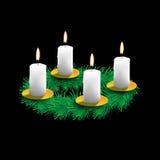 Illustration of Advent wreath Stock Photo
