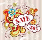 Illustration for advertising. Sale Royalty Free Stock Photos